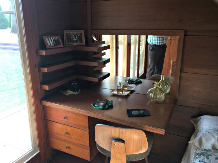 Vanity in the Master Bedroom of the Rosenbaum House - A Frank Lloyd Wright Usonian House
