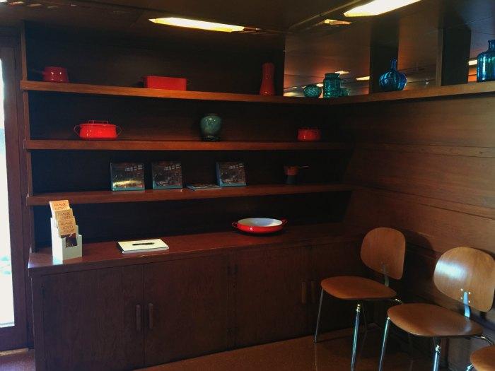 A small breakfast area in the Rosenbaum House - A Frank Lloyd Wright Usonian House