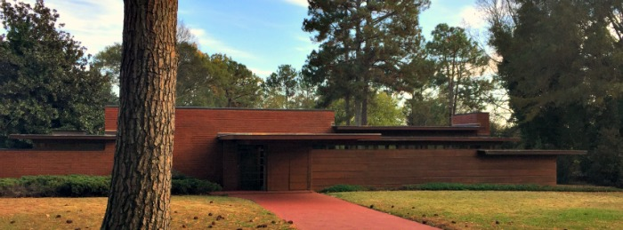View from the Street of Rosenbaum House, Frank Lloyd Wright Usonian House