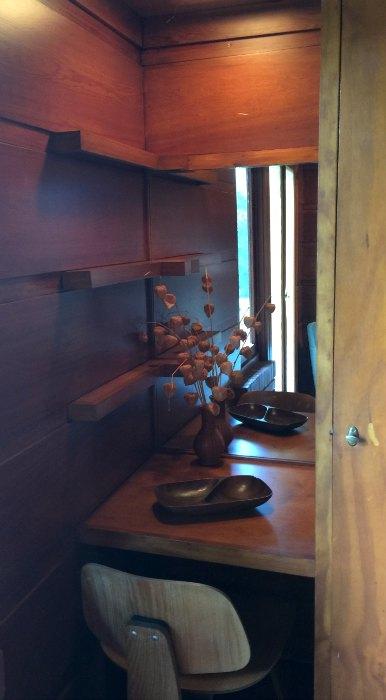Desk / Vanity in the Rosenbaum House - A Frank Lloyd Wright Usonian House