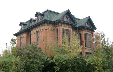Second Empire House with  brick siding - Hillsdale, MI