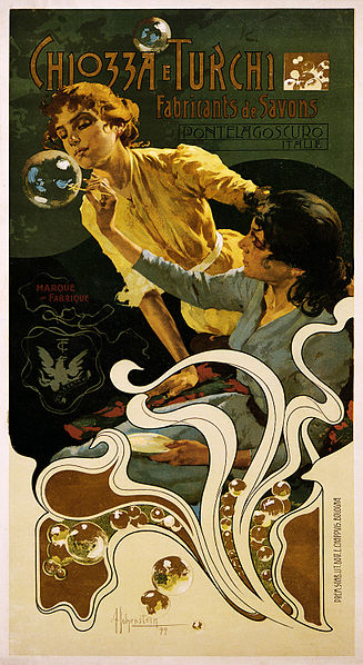 Art Nouveau – Adolfo Hohenstein illustration for Chiozza e Turchi soap