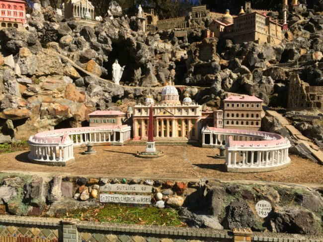 architectural model builder Joseph Zoettl built this replica of Saint Peter's