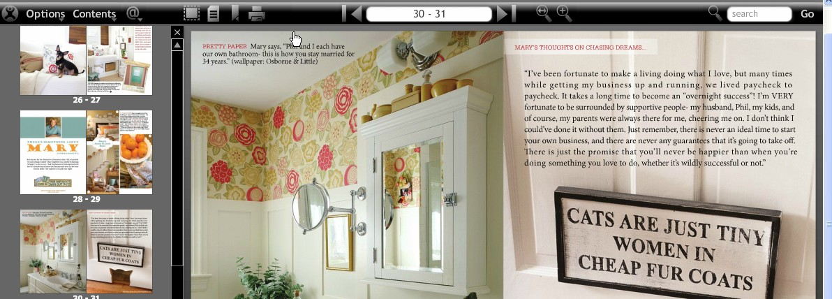 A snippet from The Lettered Cottage magazine