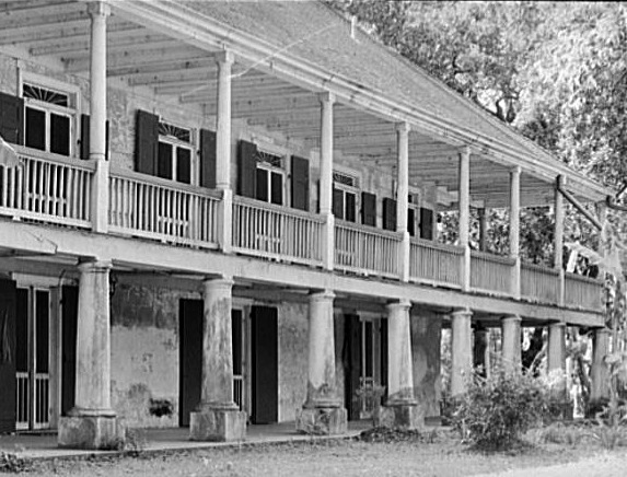 Two-Story Wrap Around Porch on Tidewater Plantation