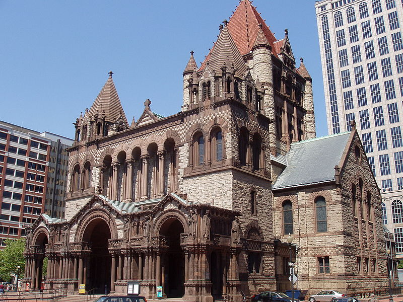 Trinity Church - Boston - Richardsonian Romanesque - designed by Henry Hobson Richardson - courtesy Daderot at Wikimedia Commons
