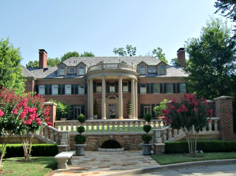 Mansion with well-proportioned porch
