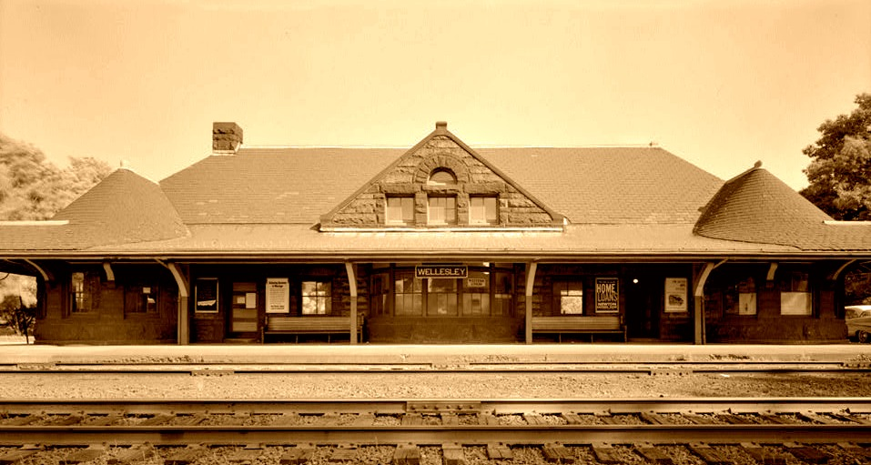Wellesley (MA) RR Station - Boston and Albany Line,