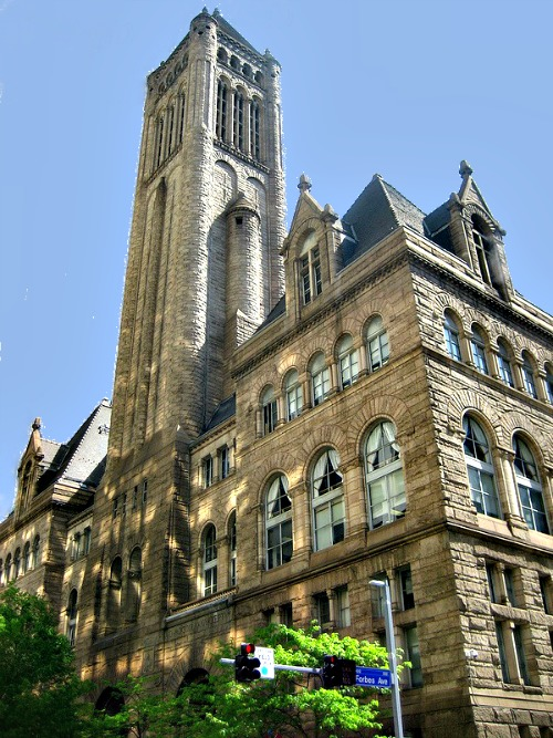 Allegheny Courthouse, Pittsburg, PA - 1883 - Richardsonian Romanesque