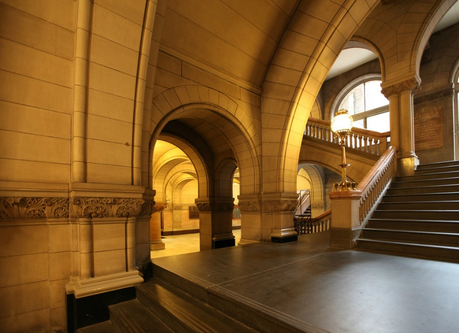 The interior of Henry Hobson Richardson's Allegheny County Courthouse