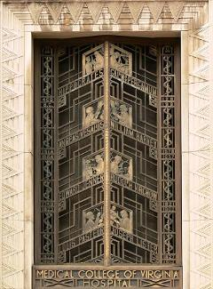 Art Deco door at Medical College of Virginia