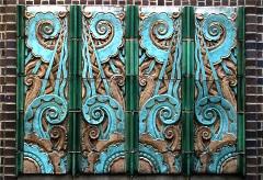 Art Deco Architecture plaque showing stylized volutes
