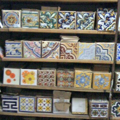 Art Tiles found at the tile store - bathroom design ideas