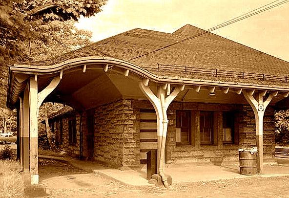 Auburndale (MA) RR Station on Boston and Albany line - Henry Hobson Richardson - 1881