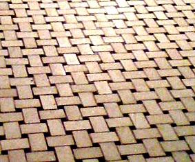basket weave tile pattern - bathroom tile design ideas