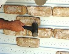 trubrix installation picture – brick veneer siding
