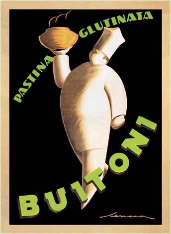 Art Deco advertisement for Buitoni Pasta by Frederico Seneca