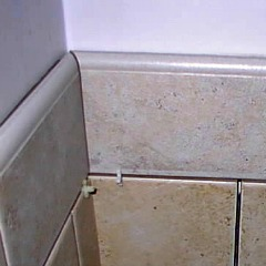 On Boykins site is an example of a bullnose tile used in his bathroom project - bathroom tile ideas