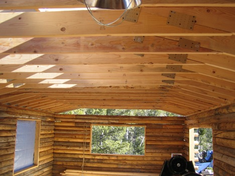 Log Cabin from inside