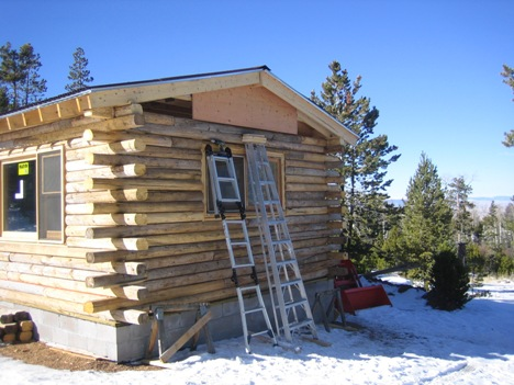 Log Cabin windows installed
