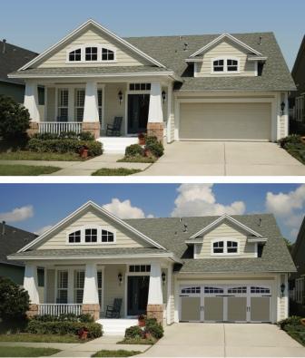 carriage house doors, overhead garage doors