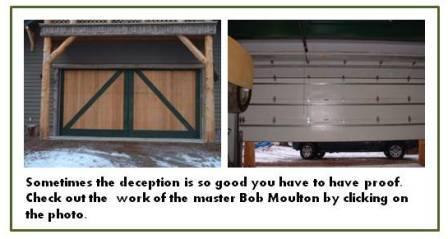 carriage house doors, overhead garage doors, Bob Moulton
