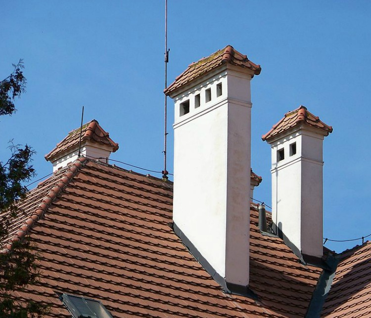 Courtesy of Sju (with funny Slavic accents) at Wikimedia - These great chimneys are actually on a courthouse in Bohemia