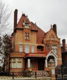 A brick tudor house from Columbus, OH