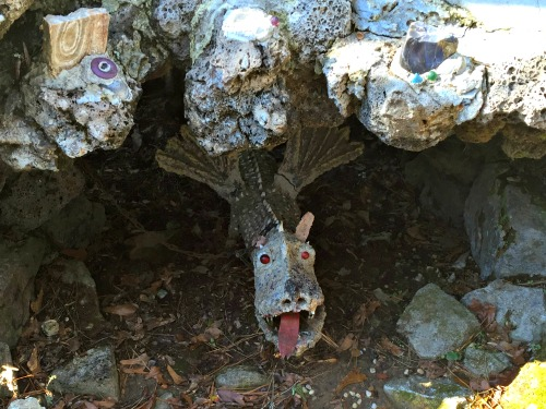 Model Builder Jloseph Zoettl's grottoes sometimes feature dragons