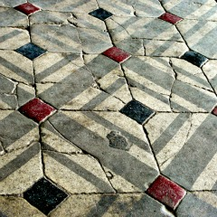 Tile Floor from Jesuits in Tianjin - this shows the added dimension offered by styled tiles - bathroom design ideas