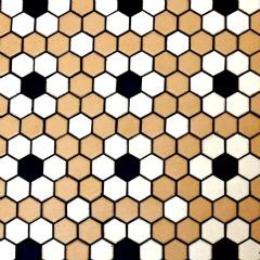 Flower Floor Tile Pattern - using hexagonal tiles - bathroom tile design ideas