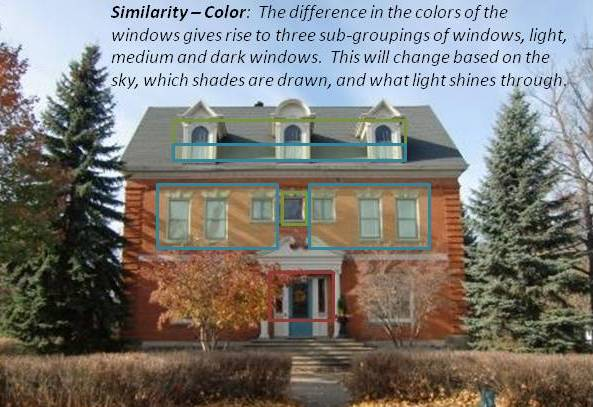 gestalt similarity by color example