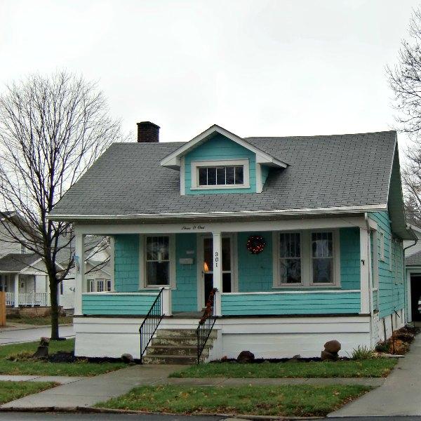 A light blue home
