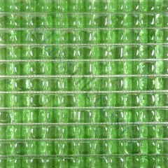 Here is a set of lime green glass tiles - bathroom tile ideas