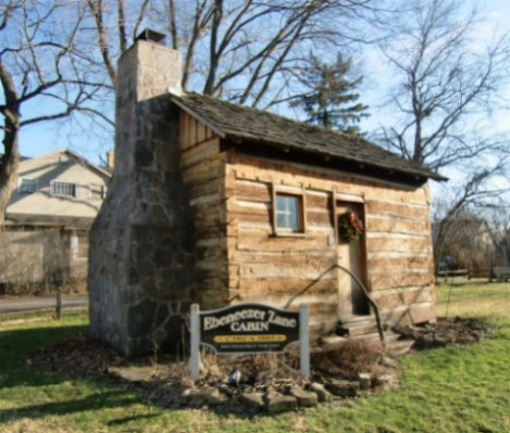 Log Cabin of Ebenezer Zane in Zanesfield, OH