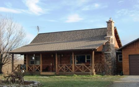 A log home on Bristle Ridge near Zanesfield, Ohio