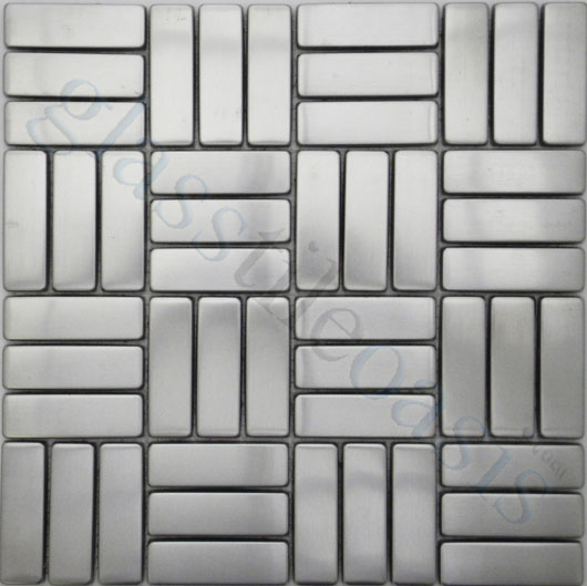 From the same company we have metal tiles in a pre-set pattern - bathroom tile ideas