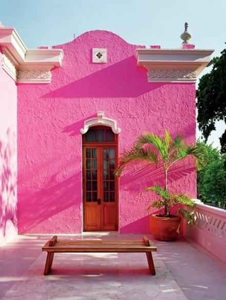 Bright Pink Mexican House