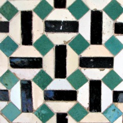 It takes three simple shapes for this pattern - bathroom tile design ideas
