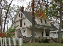 Roof Design - This house in Hillsdale, Michigan has a dominant side gabled roof that defines the rest of the house