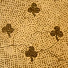 shamrock mosaic tile pattern - bathroom tile design ideas