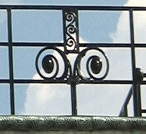 Art Nouveau balustrade on Stoclet Palac