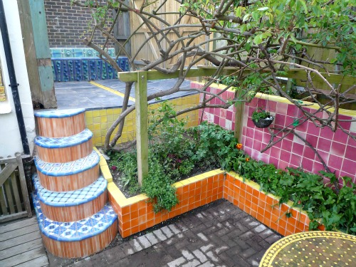 Garden Tiles from the home of Kay Aplin - bathroom tile ideas