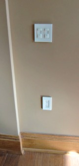 The electrical wall outlets should ride just a few inches higher in a wheelchair accessible house