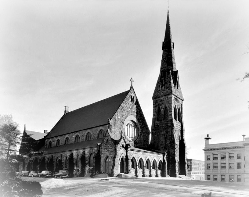 Unity Church in Springfield, Mass - 1867 - Henry Hobson Richardson's first commission.  It is in the Gothic style, not the Richardsonian Romanesque.