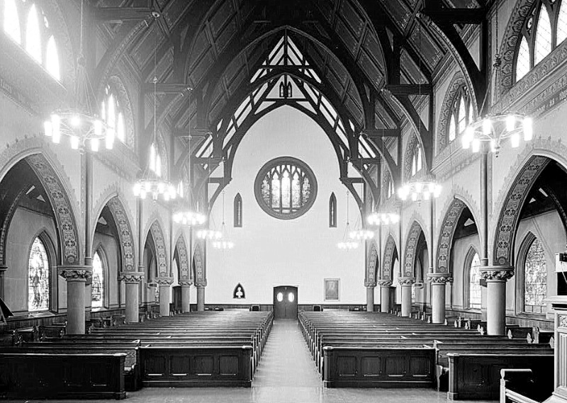 Unity Church Interior - 1867 - Henry Hobson Richardson