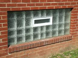 Lovely glass block window made ugyl with a vent