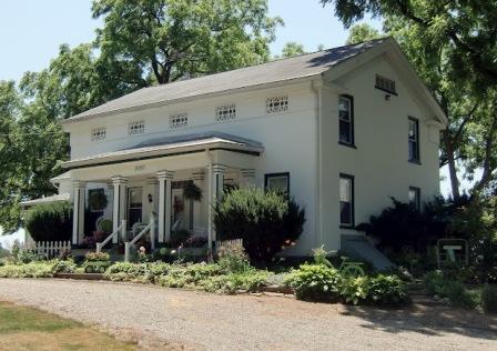 Greek Revival House near Saline, MI - Brinkerhoff-Burg home - by Stephen Mills