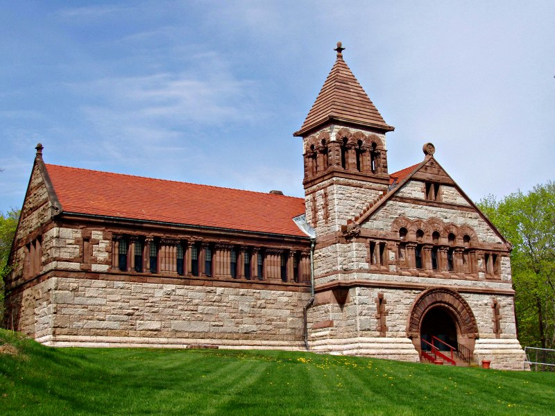 Oliver Ames Free Library - 1877 - North Easton, MA - Richardsonian Romanesque