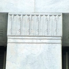 Art Deco Classical Capital with Wheat